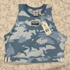 NEW Adidas Camo Cropped Tank Top